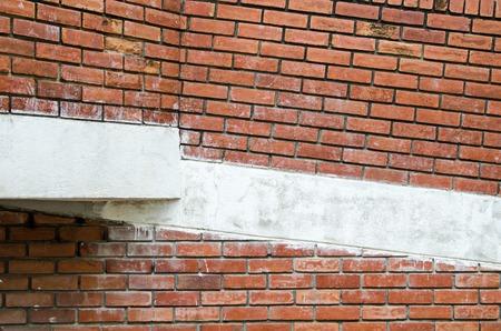 old brick wall: old red brick wall