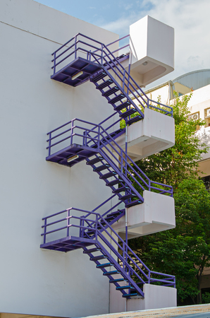 fire escape: External fire escape staircase