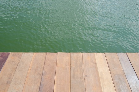 on wood floor: Texture of old wood floor background Stock Photo
