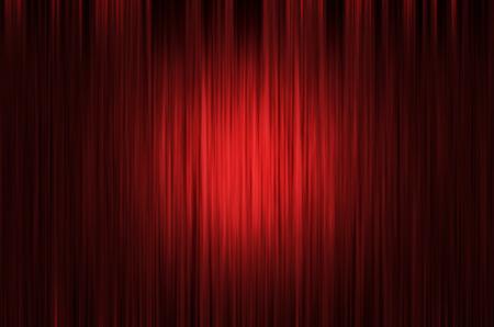 光スポットと赤いカーテン舞台背景