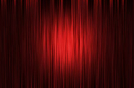 Red Curtain Stage Background with light spots Stock Photo