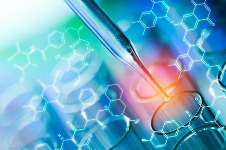 BIOLOGIA: tubos de ensayo de laboratorio de ciencia Foto de archivo