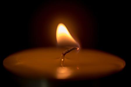 candle holder: burning spa candle Stock Photo