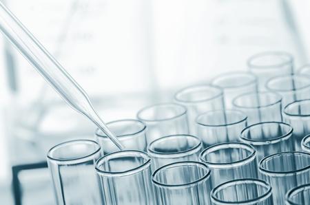 test equipment: science laboratory test tubes , laboratory equipment Stock Photo
