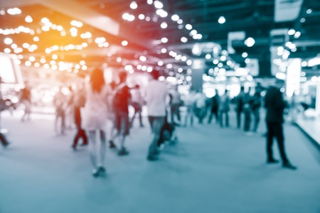 abstract blurred event with people for background 写真素材