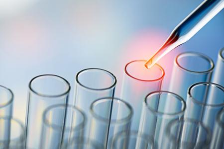 science laboratory test tubes Stock Photo
