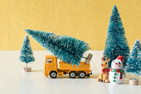 prepare christmas tree , christmas decoration concept