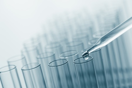 science laboratory test tubes , lab equipment for research new medical