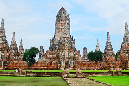 Chaiwattanaram ancient temple in Ayuttaya historical park,Middle of Thailand