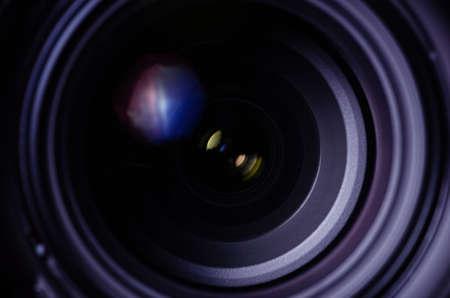 closed up camera len  for background Archivio Fotografico