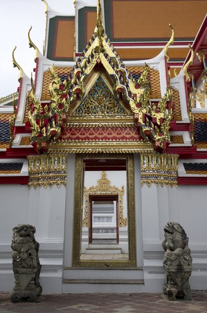 decorration: Sculpture of Wat Pho Temple ,Bangkok ,Thailand