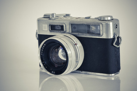 black and white old camera  photo