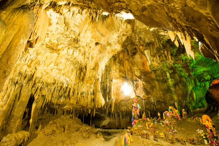 stalactites: Cave stalactites in Thailand