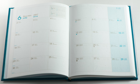 almanac: almanac book Stock Photo