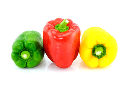 sweet pepper on white background photo
