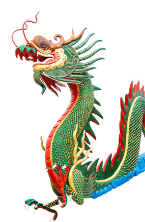 chinese new year dragon: dragon statue isolated