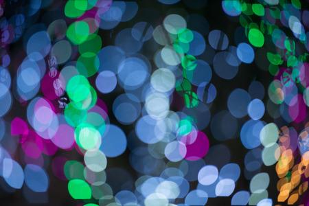 defocused colorful circle light background