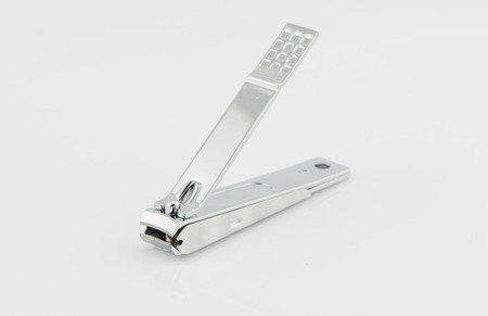 nail clippers: nail clippers isolated on white background Stock Photo