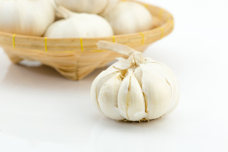 clove plant: garlic isolated on white background