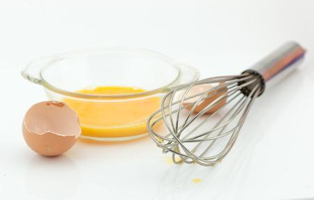 whisk: Stainless Steel Egg Whisk on white background.
