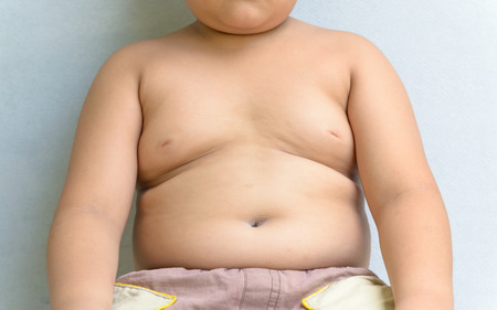 The size of stomach of children with overweight.