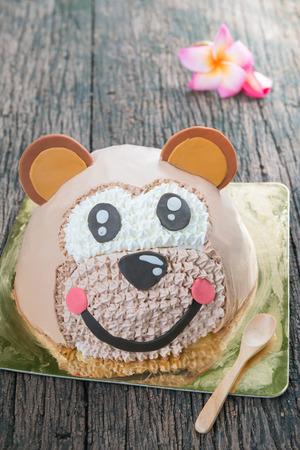 fancy cake: Cute animal fancy cake Head Monkey