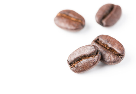 coffee beans isolated on white backgroun Stock Photo