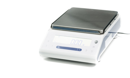 laboratory scale isolated on a white background