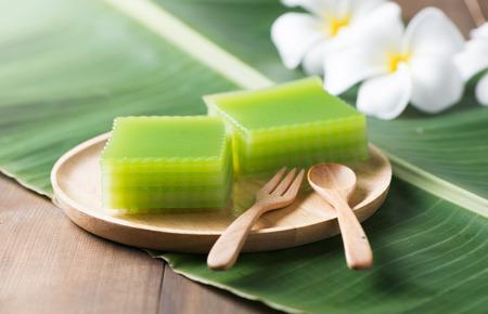 Kind of Thai sweetmeat or Thai dessert, Multi Layer Sweet Cake or Layer Sweet Cake (Kanom Chan). Reklamní fotografie