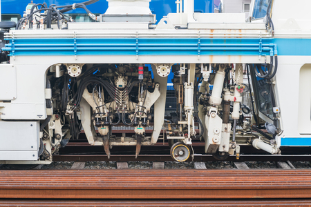motor de carro: Maintenance railway machine in Japan.