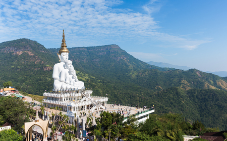 Phetchabun, Thailand - December 12 : The tourist visit A Beautiful temple is name Wat phasornkaew . Located in Phetchabun province northern of Thailand on December 12, 2016. Stock Photo