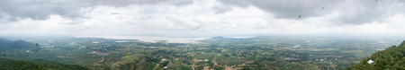 landuse: panorama of landuse around pasak jolasid dam in lop buri province, Thailand. Stock Photo