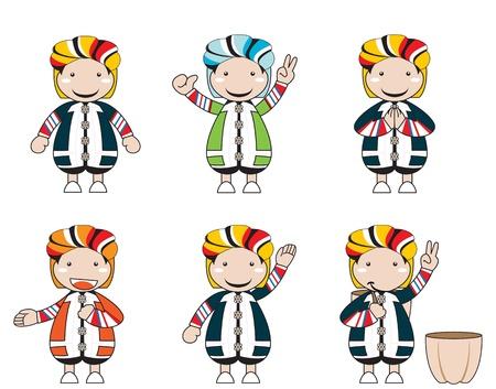 minority: Illustrations of hill tribe cartoon