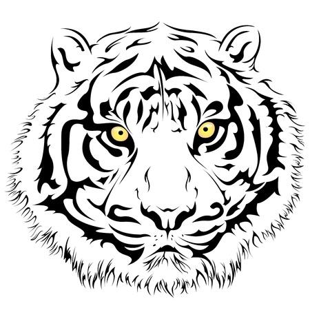 Illustratie van een tijger gezicht