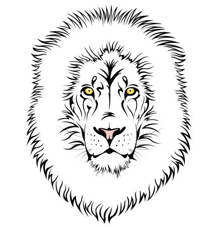 wildcat: illustration of lion head