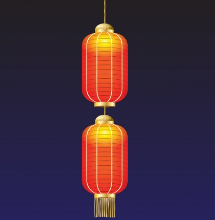 china lamp on background