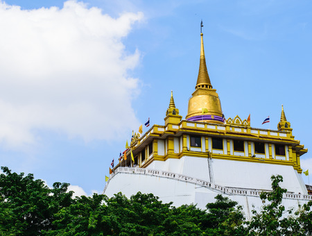 foreigners: Golden Mountain is located at Wat Saket Bangkok countries Thailand. Thailand is a tourist attraction for local people and foreigners.
