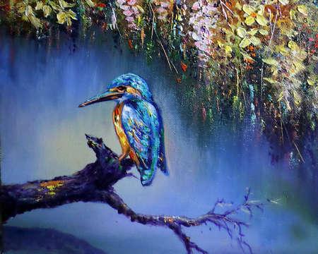 Art painting Oil Color bird