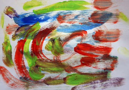 Painting Abstract Acrylic Triangle Curve Square   background   from thailand 写真素材