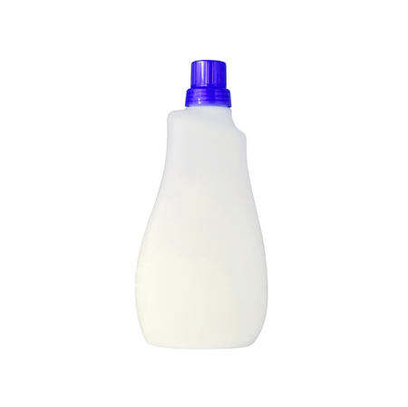 bleach: detergent bottle for liquid laundry detergent or cleaning agent or bleach or fabric softener isolated on white background Stock Photo