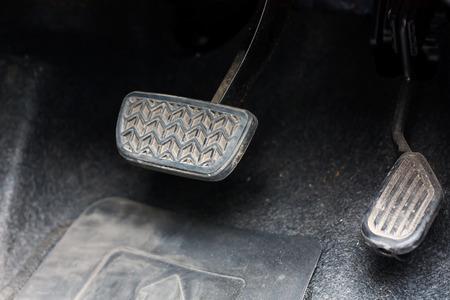 Brake pedal and accelerator of the car Banco de Imagens