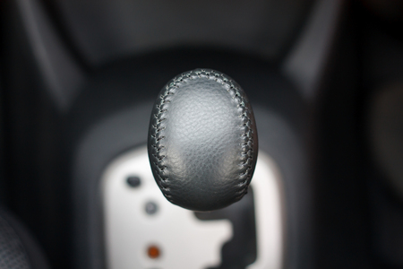 modes: The mechanism switching modes of automatic transmission car closeup