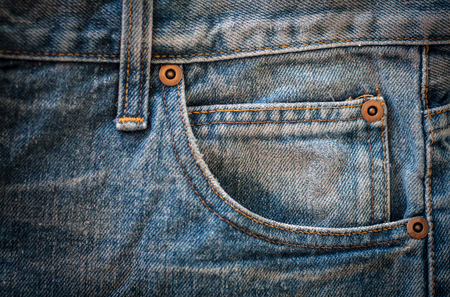 jeans pocket: jeans texture, jeans pocket Stock Photo