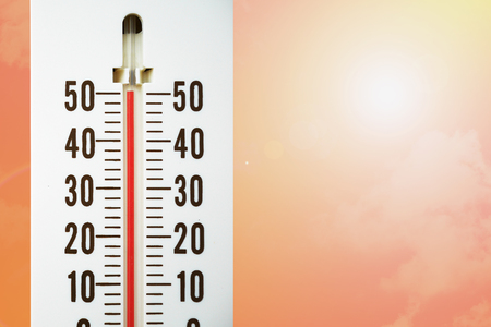 hot temperature: thermometer with hot temperature, hot weather