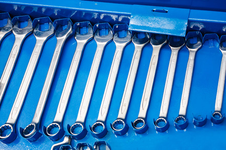 auto repair: Set of wrenches tool for auto repair