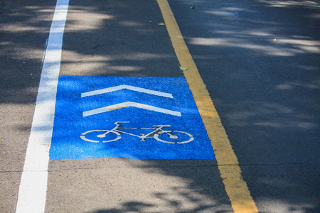 safer: Bike lane signs. Dedicated bicycle lanes, designed to make cycling safer