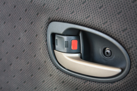 door handle: Door handle inside the car Stock Photo