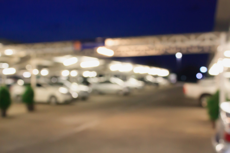 Abstract blurred car parking with bokeh Stock Photo
