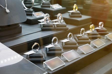 shop window: jewelry diamond shop window display