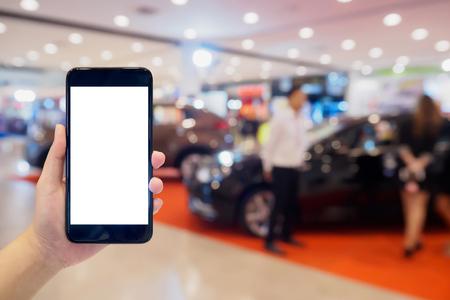 Auto showroom vervagen voor achtergrond